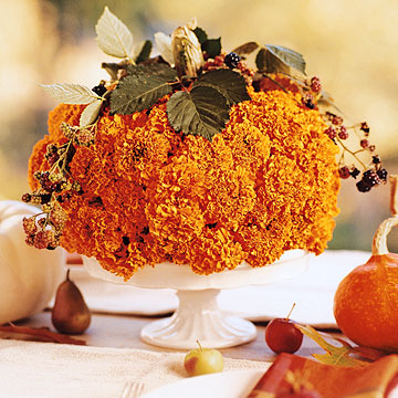 Pumpkin/Carnation Centerpiece from Better Homes and Gardens