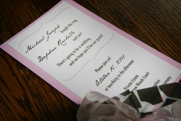 Animal Print Invitation